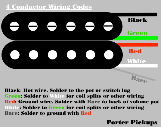 4 wire humbucker wiring   23 wiring diagram images