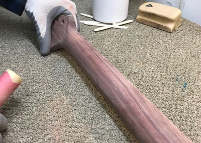Sanding a Bolivian Rosewood Neck